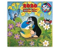 Nástěnný kalendář Krteček 2020 - poznámkový, 50 samolepek