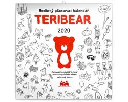 Nástěnný kalendář Teribear 2020 - poznámkový