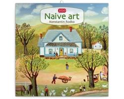 Nástěnný kalendář Naivní umění - Konstantin Rodko 2020 - poznámkový