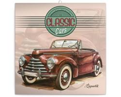 Nástěnný kalendář Classic Cars - Václav Zapadlík 2020 - poznámkový