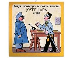 Nástěnný kalendář Švejk - Josef Lada 2020 - poznámkový