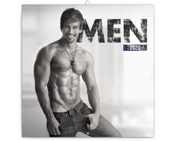 Nástěnný kalendář Muži 2020 - poznámkový - západoevropský
