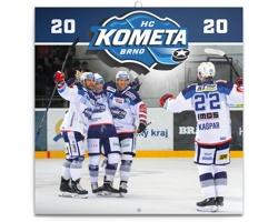 Nástěnný kalendář HC Kometa Brno 2020 - poznámkový