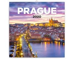 Nástěnný kalendář Praha nostalgická 2020 - poznámkový