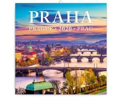 Nástěnný kalendář Praha 2020 - mini, poznámkový