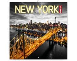 Nástěnný kalendář New York 2020 - poznámkový - západoevropský