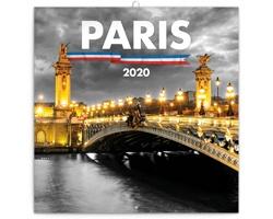 Nástěnný kalendář Paříž 2020 - poznámkový - západoevropský