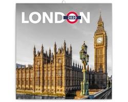Nástěnný kalendář Londýn 2020 - poznámkový - západoevropský