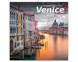 Nástěnný kalendář Benátky 2020 - poznámkový - západoevropský