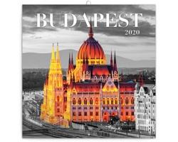 Nástěnný kalendář Budapešť 2020 - poznámkový - západoevropský