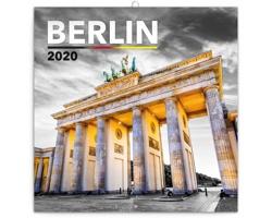 Nástěnný kalendář Berlín 2020 - poznámkový - západoevropský