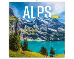 Nástěnný kalendář Alpy 2020 - poznámkový - západoevropský