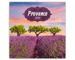 Nástěnný kalendář Provence 2020 - poznámkový, voňavý - západoevropský