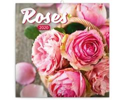 Nástěnný kalendář Růže 2020 - poznámkový, voňavý - západoevropský