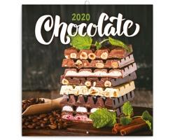 Nástěnný kalendář Čokoláda 2020 - poznámkový, voňavý - západoevropský