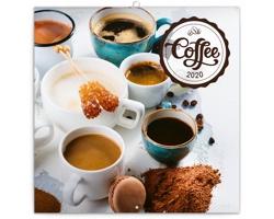 Nástěnný kalendář Káva 2020 - poznámkový, voňavý - západoevropský
