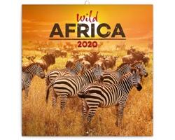 Nástěnný kalendář Divoká Afrika 2020 - poznámkový - západoevropský