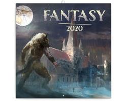 Nástěnný kalendář Fantasy 2020 - poznámkový - západoevropský