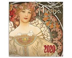 Nástěnný kalendář Alphonse Mucha 2020 - mini, poznámkový