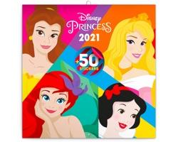 Nástěnný kalendář Princezny 2021 - poznámkový se samolepkami