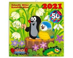 Nástěnný kalendář Krteček 2021 - poznámkový se samolepkami