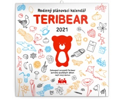 Nástěnný kalendář Teribear 2021 - poznámkový