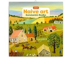 Nástěnný kalendář Naivní umění - Konstantin Rodko 2021 - poznámkový - východoevropský