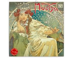 Nástěnný kalendář Alfons Mucha 2021 - poznámkový - západoevropský