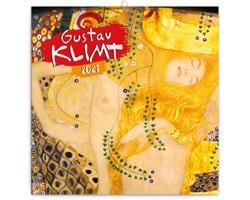 Nástěnný kalendář Gustav Klimt 2021 - poznámkový - západoevropský