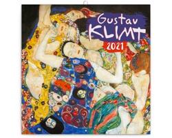Nástěnný kalendář Gustav Klimt 2021 - poznámkový - mini