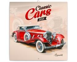 Nástěnný kalendář Classic Cars - Václav Zapadlík 2021 - poznámkový - západoevropský
