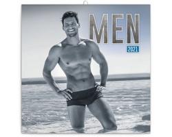 Nástěnný kalendář Muži 2021 - poznámkový - západoevropský