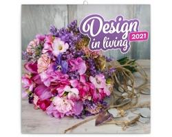 Nástěnný kalendář Design in Living 2021 - poznámkový - západoevropský