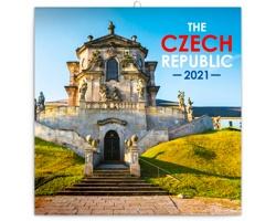 Nástěnný kalendář Česká republika 2021 - poznámkový - mini