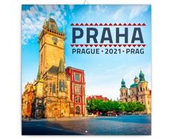Nástěnný kalendář Praha 2021 - poznámkový - mini
