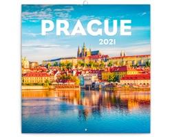 Nástěnný kalendář Praha letní 2021 - poznámkový