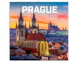Nástěnný kalendář Praha nostalgická 2021 - poznámkový