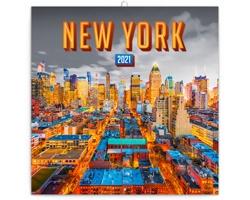 Nástěnný kalendář New York 2021 - poznámkový - západoevropský