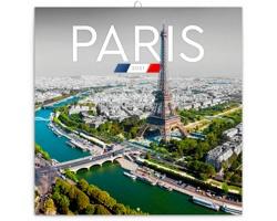 Nástěnný kalendář Paříž 2021 - poznámkový - západoevropský
