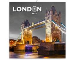 Nástěnný kalendář Londýn 2021 - poznámkový