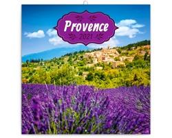 Nástěnný kalendář Provence 2021 - poznámkový, voňavý - západoevropský