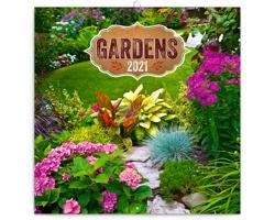 Nástěnný kalendář Zahrady 2021 - poznámkový - západoevropský