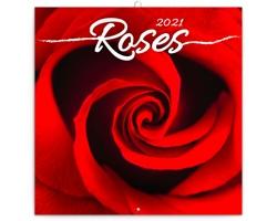 Nástěnný kalendář Růže 2021 - poznámkový, voňavý - západoevropský