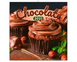 Nástěnný kalendář Čokoláda 2021 - poznámkový, voňavý - západoevropský