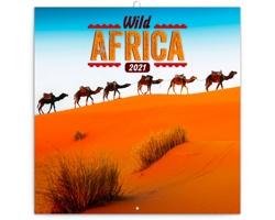 Nástěnný kalendář Divoká Afrika 2021 - poznámkový - západoevropský