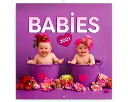 Nástěnný kalendář Babies - Věra Zlevorová 2021 - poznámkový - západoevropský