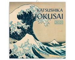 Nástěnný kalendář Katsushika Hokusai 2021 - poznámkový - západoevropský