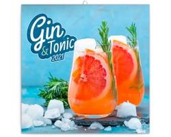 Nástěnný kalendář Gin & Tonik 2021 - poznámkový - východoevropský