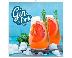 Nástěnný kalendář Gin & Tonik 2021 - poznámkový - západoevropský
