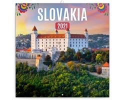 Nástěnný kalendář Slovensko 2021 - poznámkový - mini